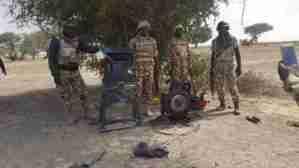 Troops Destroy Boko Haram Terrorists Logistics Base At Shirawa (Photos)